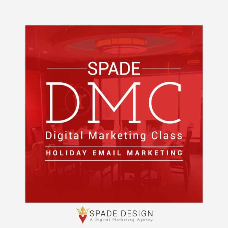 Spade DMC: Holiday Email Marketing Spade Design