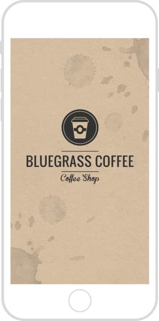 coffe shop mobile app punch card spade design