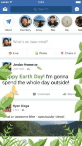 facebook earth day animation text delight