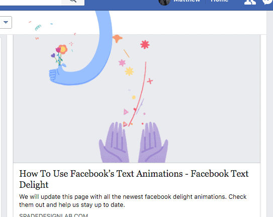 Wonderful Time Facebook Animation, Wonderful Time Facebook