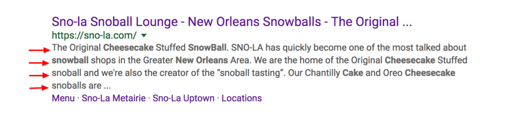 On Page SEO Checklist Blogging for People and Search Engines- best snowball in new orleans Sno-la Snowballs