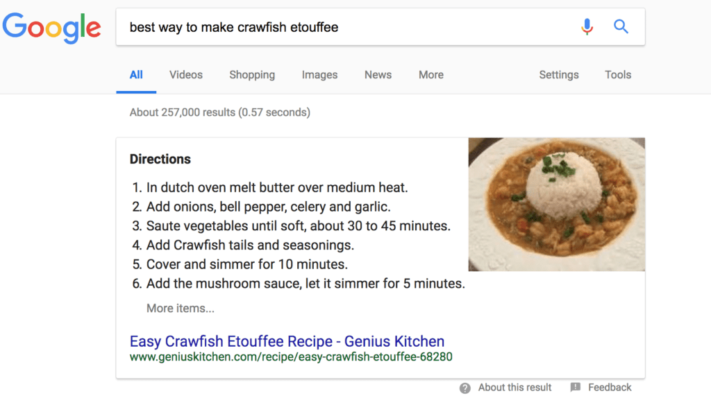 On Page SEO Checklist, seo strategy, schema markup, best way to make crawfish etoufee