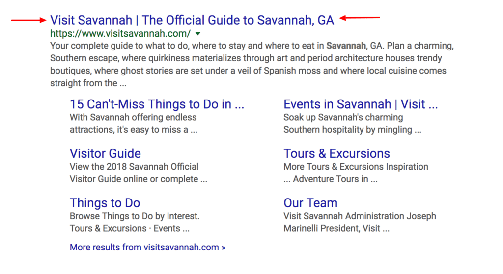 On Page SEO Checklist: Blogging for People and Search Engines - visit savannah Google Search