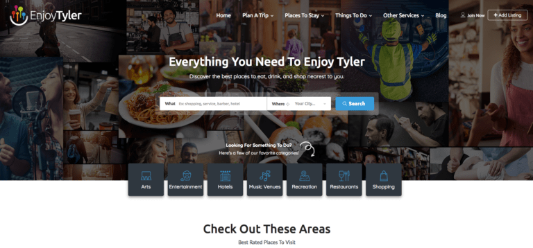 Enjoy Tyler Homepage