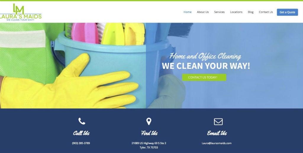 Laura's Maids website redesign