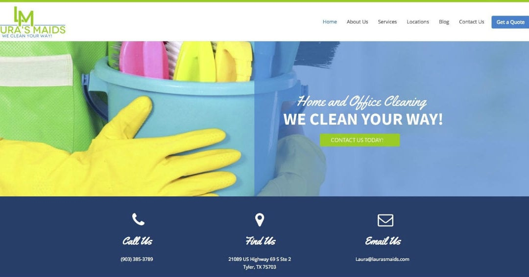 Case Study — Texas Professional Cleaning Service Website